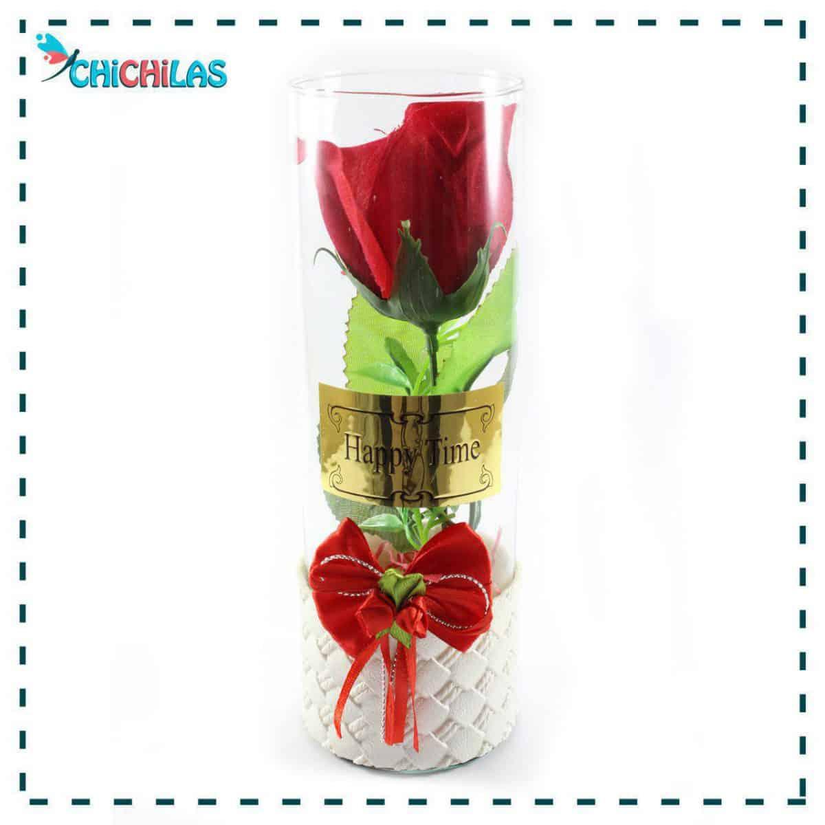 گلدان شیشه ای - گلدان دکوری - چیچیلاس - فروشگاه دکوری - گلدان رومیزی - کادویی - هدیه - ولنتاین