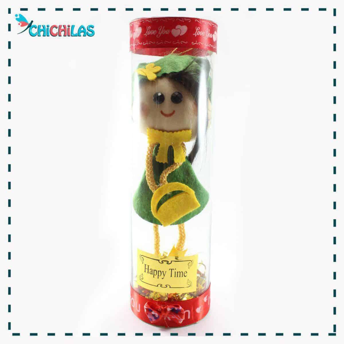 چیچیلاس - عروسک نمدی - عروسک دختر نمدی - عروسک نمدی دختر - عروسک نمدی جدید - عروسک نمدی فانتزی - عروسک نمدی ساده