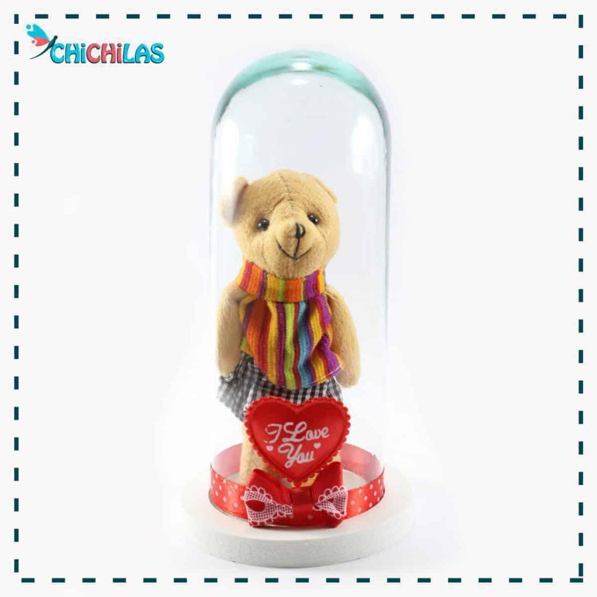 چیچیلاس - عروسک خرس شیشه ای - خرس دامن دار - دکوری - خرس دکوری - ولنتاین - خرس ولنتاین - کادو - هدیه