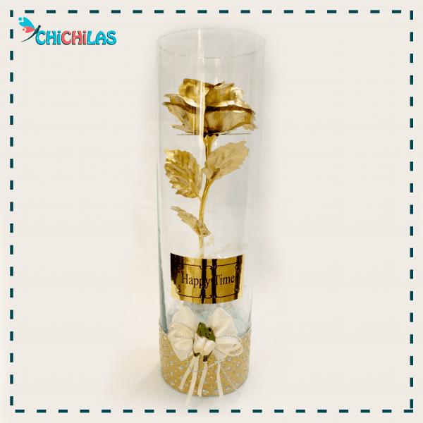 چیچیلاس - گلدن رز - گل رز طلایی - گل شیشه ای - دکوری