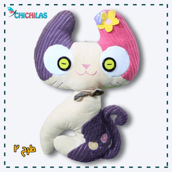 چیچیلاس - عروسک گربه فانتزی - خرید عمده عروسک - فروشگاه عروسک - خرید عروسک گربه ولنتاین - عروسک ولنتاین - عروسک بزرگ