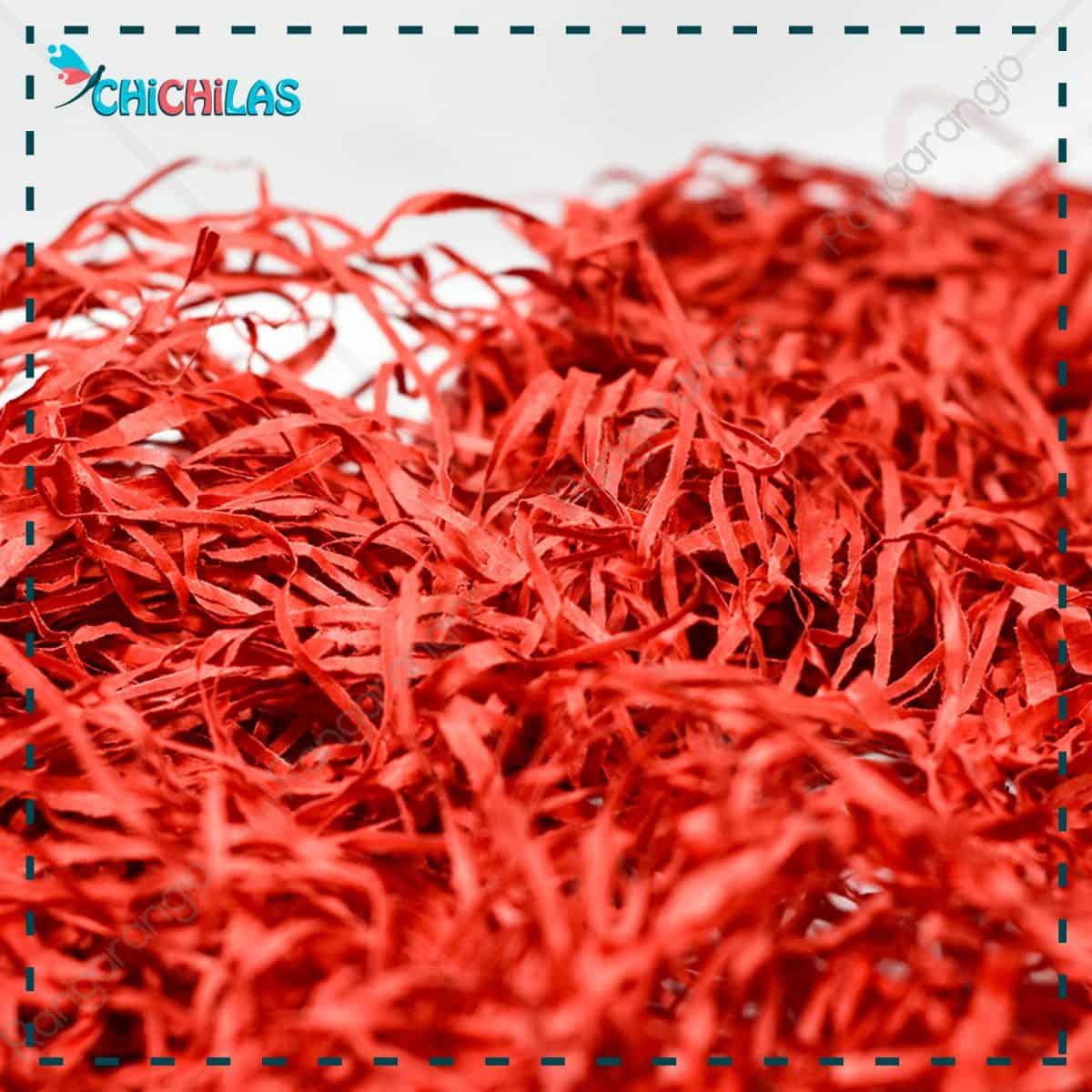 چیچلاس - پوشال قرمز - خرید پوشال برای باکس ولنتاین - خرید پوشال قرمز تزیینی - خرید پوشال تزیینی