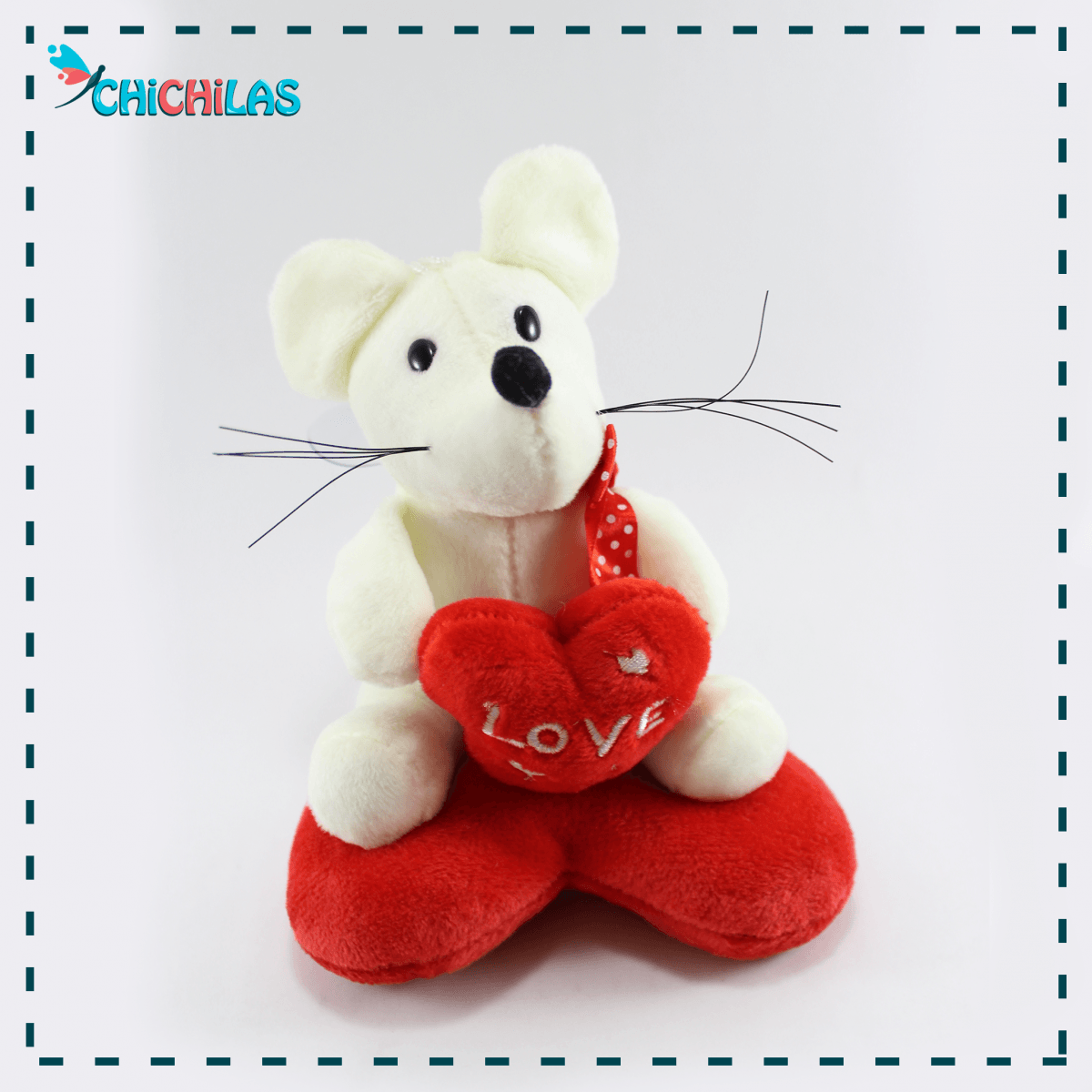 چیچیلاس - خرید عروسک ولنتاین - عروسک ولنتاین 98 - عروسک موش - عروسک موش ولنتاین