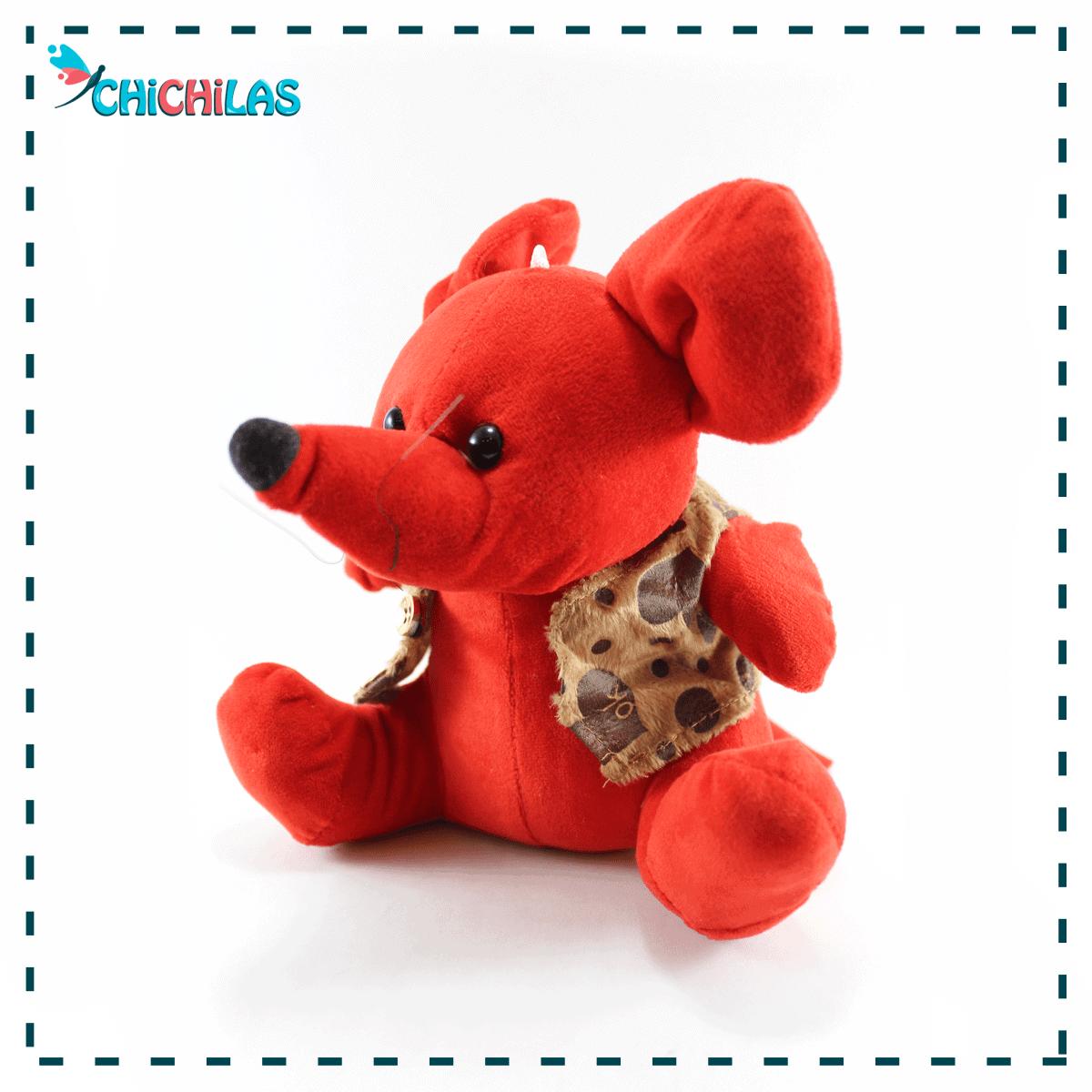 عروسک موش قرمز ولنتاین - خرید عروسک موش قرمز - عروسک امسال ولنتاین - فروشگاه عروسک - چیچیلاس