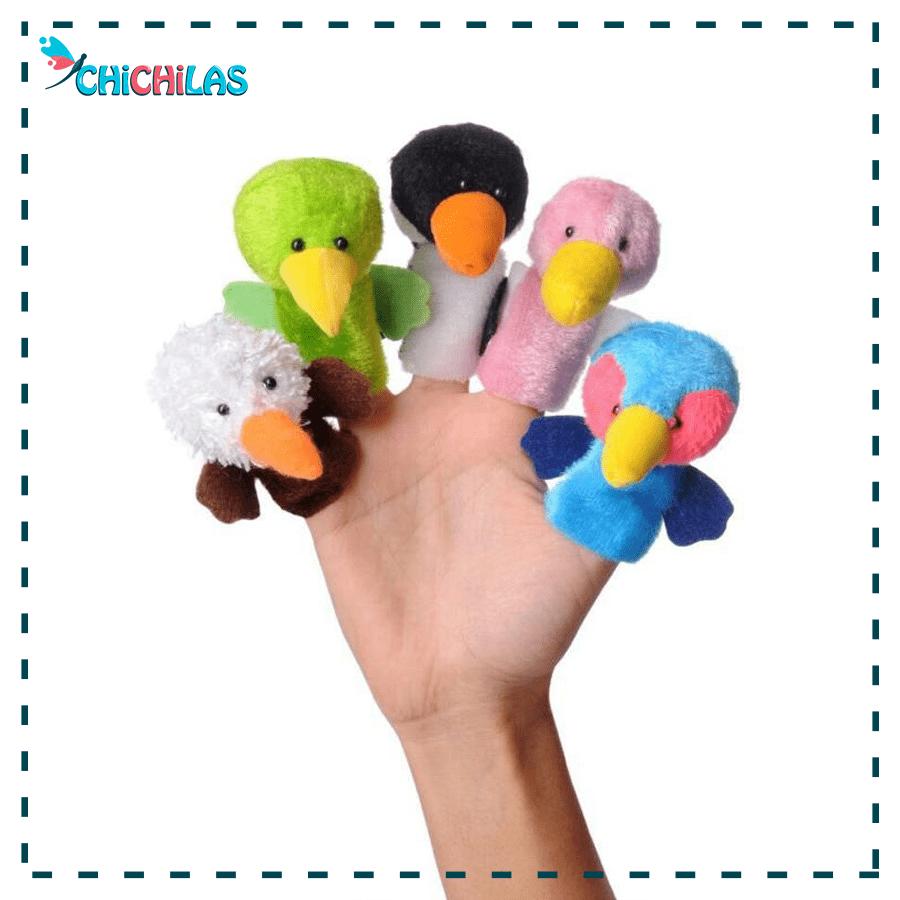 عروسک نمایشی پرندگان - عروسک نمایشی انگشتی - عروسک انگشتی پرندگان