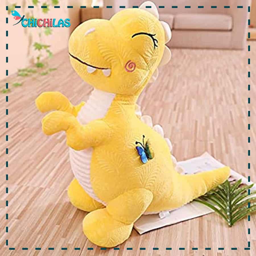عروسک دایناسور - عروسک دایناسور صورتی - عروسک دایناسور زرد