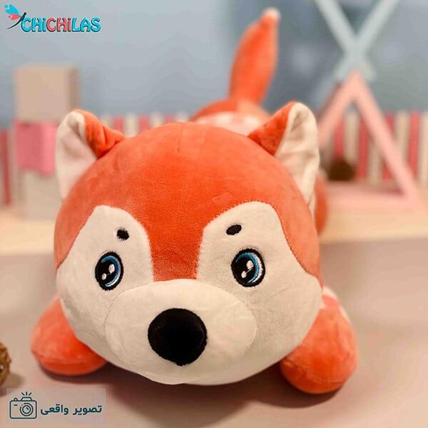 عروسک هاسکی - عروسک سگ هاسکی - سگ عروسکی - عروسک سگ بالشتی - عروسک بالشتی